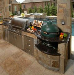 Excellent Absolutely Free outdoor kitchen appliances Thoughts Backyard kitchen style and design is extremely successful in just the home style and design industry. Outdoor Kitchen Plans, Backyard Kitchen, Outdoor Kitchen Design, Outdoor Cooking, Kitchen Decor, Out Door Kitchen Ideas, Summer Kitchen, Kitchen Layout, Backyard Barbeque