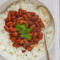 Puerto Rican-style red beans and rice