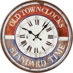 Diese ungewöhnliche Wanduhr zeigt nicht nur die Zeit an, sondern wirkt durch die schöne Farbgebung sowie das römische Ziffernblatt wie ein kleines Kunstwerk. Die analoge Uhr wurde in Rot und Blau gehalten und überzeugt mit einer Vintage-Aufschrift. Erfreuen Sie sich an Ihrer neuen Uhr jedes Mal, wenn Sie nach der Uhrzeit sehen!