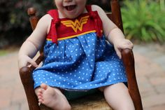 Wonder Woman Inspired Cotton Knot Dress Sizes 3m 8 by 5outof4