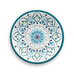 Baeza Melamine 12 Piece Dinnerware Set, Service for 4 Pottery Plates, Ceramic Plates, Decorative Plates, Painted Plates, Pottery Painting, Ceramic Painting, Melamine Dinnerware Sets, Dining Plates, Appetizer Plates