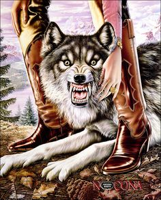 Nocona Boots Heroes Poster - Wolf