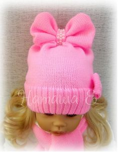 This post was discovered by Наталья Урсатий. Discover (and save!) your own Posts on Qoster. Knitted Baby Beanies, Crochet Baby Beanie, Baby Girl Crochet, Baby Hats Knitting, Knitting For Kids, Baby Sweaters, Baby Knitting Patterns, Knitted Hats, Crochet Hats