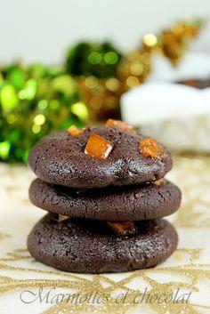 Marmottes et Chocolat: Шоколадови бисквити с грейпфрут и анасон / Cookies au chocolat, pamplemousse et anis étoilé / Chocolate-grapefruit cookies