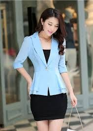 Women peplum gray jacket short tailored jacket by JolyDagmara ...