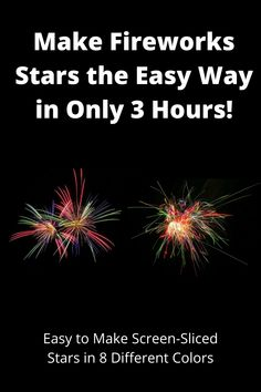 How To Make Fireworks, All The Colors, Different Colors, Firework Star, Star Choice, Choices, Scale, Palette, Rainbow