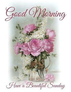 Have A Beautiful Sunday, Glass Vase, Floral Wreath, Wreaths, Floral Crown, Door Wreaths, Deco Mesh Wreaths, Floral Arrangements, Garlands