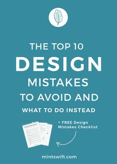 Visual mistakes can make you appear unprofessional and untrustworthy to your audience. Today, I share my top 10 design mistakes to avoid and what to do instead. Learn about the common design mistakes like using blurry photos and graphics, scaling text or images disproportionately, using hard to read fonts, using too many colours, not using paragraphs and more. The visual aspect of your brand identity, so anything design related you're showing to your potential clients is the core of the…