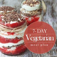 7- Day Vegetarian Meal Plan (can easily make vegan)