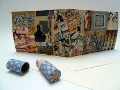 Handmade birthday card, original art collage, OOAK, happy birthday, with envelope. See also: https://www.etsy.com/nl/shop/FifisDream?section_id=13426978&ref=shopsection_leftnav_2
