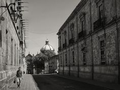 Downtown Morelia -BNW- (Michoacán, México. #Photograph by Gustavo Thomas © 2014)