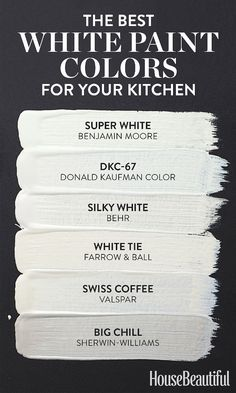 Super White or Swiss Coffee Best White Paint, White Paint Colors, Kitchen Paint Colors, Interior Paint Colors, Wall Colors, House Colors, Interior Painting, Lowes Paint Colors, Neutral Paint