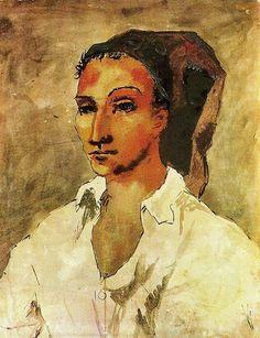 Pablo Picasso — Spaniard, 1906, Pablo PicassoSize: 61.5x48 cm
