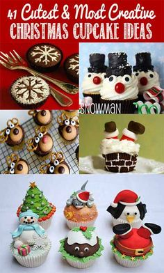 Here's a great way to pack some seasonal fun into cupcakes to serve. ... There's nothing merrier for your Christmas table than a towering cookie tree and cupcakes.