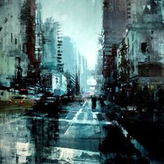 New York no. 11 - 48 x 48 inches - Oil on Panel - 4/2015 - Jeremy Mann