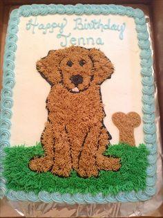 Golden retriever dog cake