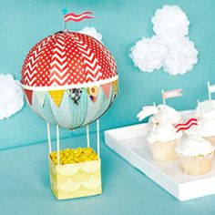 Craft up a whimsical hot air balloon you'll want to keep around long after the party is over.