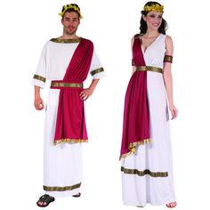 Costumes pour couples Romains Rouges #déguisementscouples