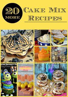 20 MORE Cake Mix Recipes! That's right, all awesome recipes that use a store bought mix as a base.