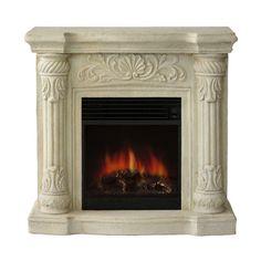 Coronado Polystone Electric Fireplace with Mantle