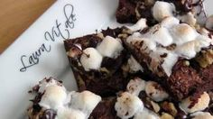 Rocky Road Brownie Bars Recipe - Laura in the Kitchen - Internet Cooking Show Starring Laura Vitale