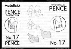 Nem sempre utilizamos a disposição clássica das pences, que foi ensinada no estudo da base, por ser desgraciosa, principalmente em tecidos...