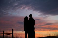 Blake Beckstrom Photography - Engagement Session - Photography Inspiration - Sunset Photography - Couples - Engaged - Silhouette Shot