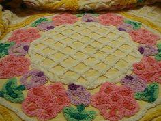 Vintage Chenille Bedspread Full Size   eBay