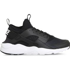 Nike Air huarache run ultra neoprene and mesh trainers ($115) ❤ liked on Polyvore featuring shoes, neoprene shoes, fleece-lined shoes, print shoes, strap shoes and mesh shoes