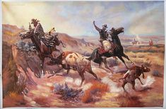 A Serious Predicament - Charles Russell hand-painted oil painting reproduction,hunting scene art,office wall decor,American Western fine art Native American Art, American Artists, American Indians, American History, Gaucho, Charles Marion Russell, Westerns, West Art, Grave