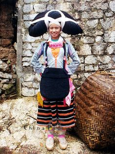 Long-horned Miao girl