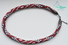 """https://www.facebook.com/olgabeads/Harness beaded """"Embroidery"""" (Red line)."""
