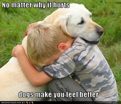 Community Post: 18 Photos Of Kids And Dogs Sharing Things Together