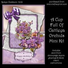 A Cup Full of Cattleya Orchids Mini Kit
