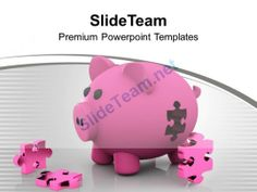 Piggy Bank And Puzzle Solution Business Powerpoint Templates Ppt Themes And Graphics 0113 #PowerPoint #Templates #Themes #Background