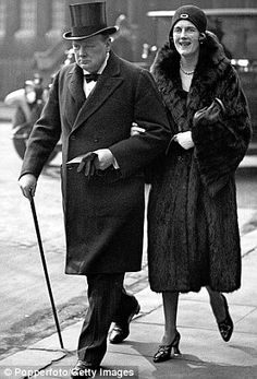 Winston Churchill & Clementine, then just an MP, in 1930