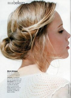 wedding hair. tease it, roll it up and let some fall out.