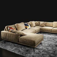 sofa boconcept carlton 3d model max obj fbx 6