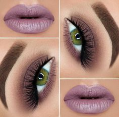 The number of purple lipstick shades is so versatile! We know what shade of purple you need, what is more, we know some little tips and tricks to make you look irresistible! Makeup For Green Eyes, Blue Eye Makeup, Love Makeup, Makeup Looks, Hair Makeup, Purple Lipstick Makeup, Dramatic Wedding Makeup, Formal Makeup, Makeup Inspiration