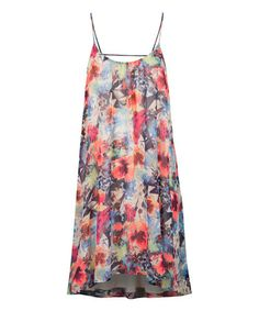 Another great find on #zulily! Red & Blue Floral Shift Dress by Dex #zulilyfinds