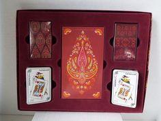 Bridge Set Playing 2 Card Decks*Score Pad*2 Tally Card Sets Cartamundi