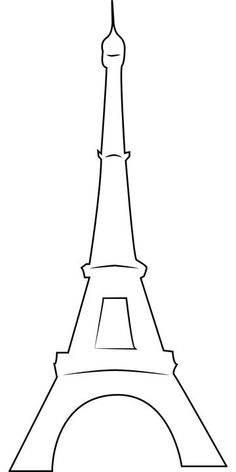 Eiffel Tower pattern. Use the printable outline for crafts