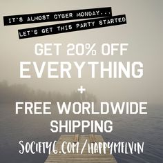 Almost #cybermonday and almost #insane at Society6  http://society6.com/happymelvin  #wanderlust #homedecor #art #artist