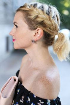 Coiffure cheveux mi-longs facile et rapide automne-hiver 2016 - Fashion Tutorial and Ideas Mid Hairstyles, Ponytail Hairstyles, Pretty Hairstyles, Ponytail Ideas, Ponytail Styles, Easy Hairstyle, Updos, Medium Hair Styles, Curly Hair Styles