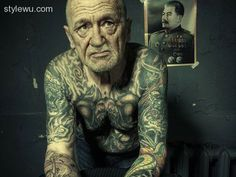 30 Remarkable Old People With Tattoos - http://stylewu.com/30-remarkable-old-people-with-tattoos.html