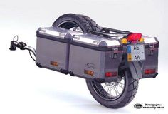 I need to build one of these cycle style. Motorcycle Trailer, Motorcycle Camping, Bike Trailer, Moto Bike, Camping Car, Enduro Motorcycle, Motorcycle Touring, Gs 1200 Bmw, Gs 1200 Adventure