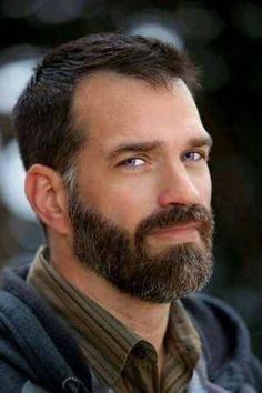 Gray sideburns beard
