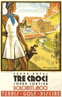 """Grand-Hotel """"Tre Croci"""" - Sopra Cortina - Dolomiti -"""