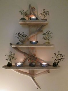 15 Unique DIY Rustic Wall Shelf Ideas For Awesome Home Decoration If you like rustic DIY wall shelves, then you should look at shelf projects. This is an excellent choice if you want to make & sell DIY to others. Rustic Wall Shelves, Rustic Walls, Wall Shelving, Rustic Shabby Chic, Rustic Decor, Driftwood Shelf, Decoration Photo, Diy Home Decor, Room Decor