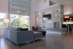 modern living room garage